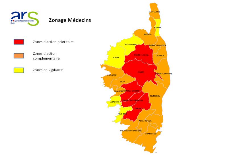 Carte Zonage Kine Corse.Le Nouveau Zonage Des Medecins Liberaux En Corse Agence