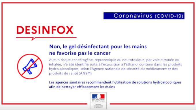 DESINFOX hydroalcolique cancer