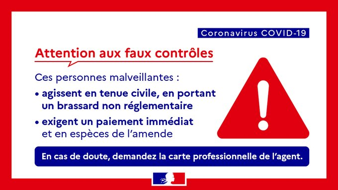 attention aux faux controles